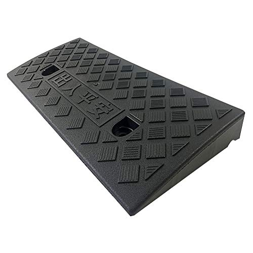 Baiying Rubber Kerb Ramps Threshold Wheelchair Ramp Road Driving Pressure Resistance Load Bearing for Construction Can Be Stored Easy to Carry,2 Colours, 5 Sizes (Color : Black, Size : 50X27X5CM)