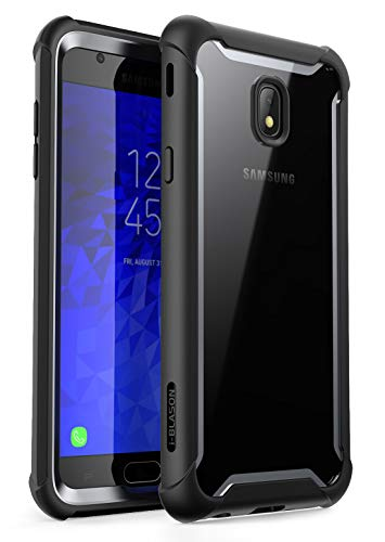 i-Blason Case Designed for Galaxy J7 (SM-J737 2018 Release) Case, [Ares] Full-body Rugged Clear Bumper Case with Built-in Screen Protector, Not fit (J7 Pro 2017 SM-J730)(Black)