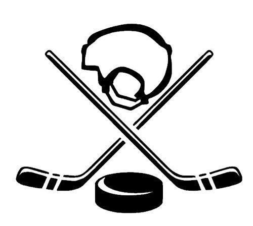 generisch Hockey Aufkleber EIS Hockey Aufkleber Auto Aufkleber in 10cm, 15cm, 20cm GrößeEis Hockey Sport 130/4 (Silbergrau Glanz, 10cm)