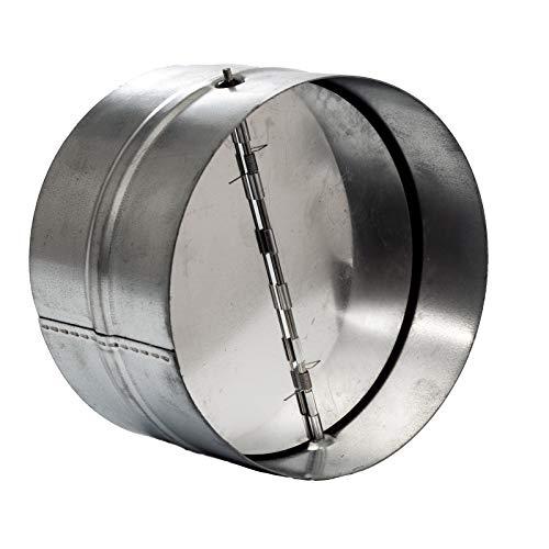 Vent Systems 8'' Inch Backdraft Damper - Backflow Shutter - Heavy-Duty Inline Springs Loaded - One-Way Airflow Ducting Insert - Inline Fan Vent Deflector