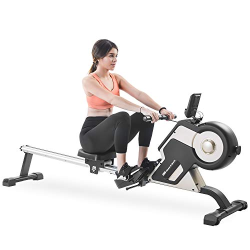 Sale!! Amzchoice Rowing Machine Rower with Magenetic Resistance LCD Monitor 340 LBS Max Weight Cardi...