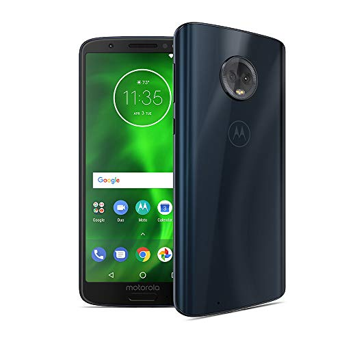 Motorola G6 – 32 GB – Unlocked (AT&T/Sprint/T-Mobile/Verizon) – Deep Indigo - (U.S. Warranty) - PAAE0011US