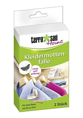 Terrasan Home Kleidermottenfalle, 2 Stück, Ermittlung des Motten Befalls, 3 Monate Wirkung, Für einen Raum von bis zu 30 m²