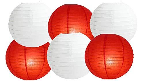 Farolillos papel colores surtidos 6 paquetes redondos