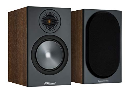 Monitor Audio Bronze 50 Bookshelf Speaker - Black (Sold as Pair) (Walnut)