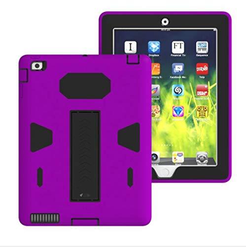 WLWLEO para iPad2 / 3/4 Funda, 3 en 1 Funda Delgada para PC a Prueba de Golpes Funda Protectora Resistente de Goma de Silicona Blanda,5,ipad2/3/4