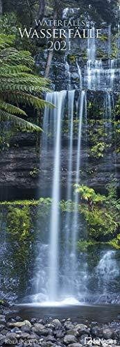 Wasserfälle 2021 - Foto-Kalender - King-Size - 34x98 - Waterfalls - Natur: Waterfalls