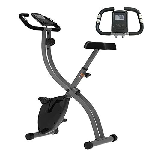 X-Bike Estática Bicicleta de Ejercicio F-Bike Plegable con Pantalla LCD 8 Niveles de Resistencia Ajustables Altura Regulable para Ejercicio Entrenamiento en Casa, MAX hasta 150 kg