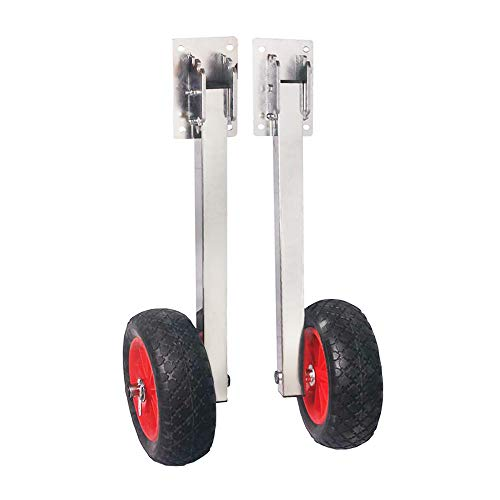 Portable Storage Rack Stainless Steel Premium model launchingwheels.com Outboard Boat Motor Carrier Cart Stand Trolley Dolly