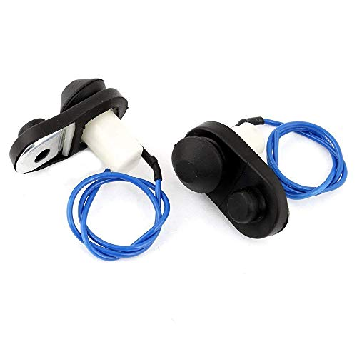 Fliyeong - Interruptor de luz para puerta de coche (2 unidades), color negro