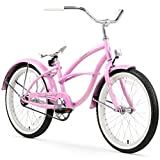 Firmstrong Urban Girl Single Speed Beach Cruiser Bicycle, 20-Inch, Pink