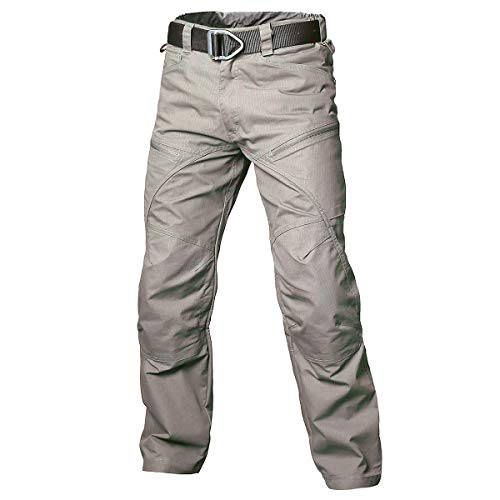 CARWORNIC Pantalones tácticos de combate para hombre, rip-stop, pantalones de carga militares, senderismo, casual, ligeros, multi-bolsillo