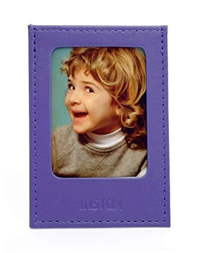 Fujifilm Instax Mini Grape - Moldura Polipiel para Fotos, Color Morado UVA