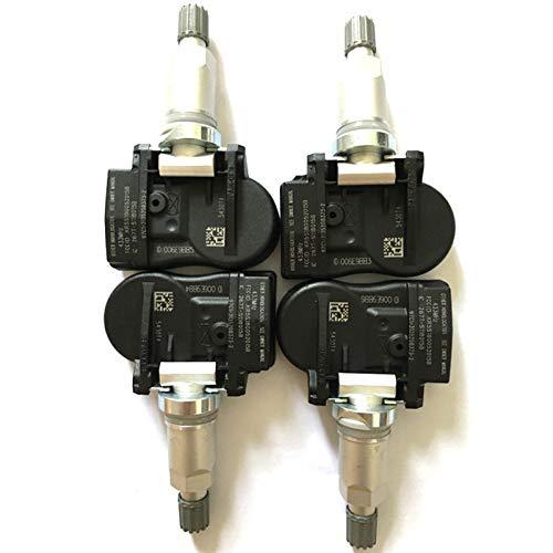 LIUWEI 9673198580 5430T4 la presión de neumático Sensor Fit for Peugeot 207 307 407 508 607 807 1007 Fit for Citroen C4 C5 C6 C8 5430.T4 (Color : 4pcs)