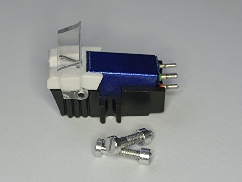 Blauwe koppen en diamantnaald met de juiste montage schroeven voor Garrard DDQ650, Philips hs510q, platenspeler afneemer, naald