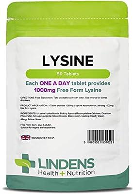 Lysine 1000mg /50 Tablets