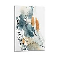水彩抽象線キャンバスアートポスター壁アート画像子供部屋の装飾絵画24x36インチ(60x90cm)