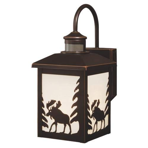 Patriot Lighting Moose Burnished Bronze Motion Sensor Outdoor Wall Light