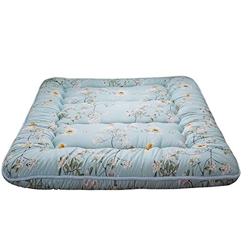 Rustic Floral Korean Floor Mattress Japanese Futon Mattress, Memory Foam Foldable Bed Roll Up...