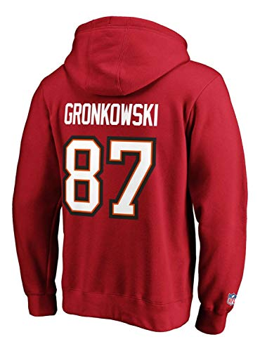 Fanatics - NFL Tampa Bay Buccaneers Iconic Name & Number Graphic Rob Gronkowski Hoodie - Rot Farbe Rot, Größe XL