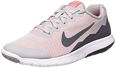 Nike Men's Flex Experience RN 4 (Wolf Grey/Dark Grey/Ht Lv/Wht) Running Shoe, 6 B(M) US