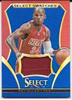 Ray Allen 2013-14 Select Select Swatches Prizms Blue #38/49 Miami Heat Jersey Insert Card #54