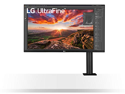 "LG 32UN880 ERGO Monitor 32"" UltraHD 4K LED IPS HDR, 3840x2160, AMD FreeSync 60Hz, HDMI 2.0, Display Port 1.4, USB-C, USB Hub, Speaker Stereo 10W, Uscita Audio, Flicker Safe, Stand ERGO, Nero"
