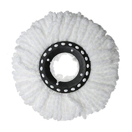 360 roterende kop, eenvoudige roterende microvezel-vloerwisser voor het buizen van huishoudelijke vloerreinigers. wit
