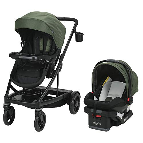 Graco Uno2Duo Travel System   Includes UNO2DUO Stroller and SnugRide SnugLock35 Infant Car Seat, Goes from Single to Double Stroller, Jules
