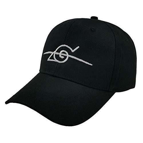 ALTcompluser Unisex Anime Naruto Baseball Cap Bestickt Anti Konoha Einstellbare Trucker Hat(einstellbare Größe Schwarz)