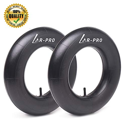 4.80/4.00-8'' Heavy Duty Replacement Inner Tube with TR-13 Straight Valve Stem (2-Pack) - for Wheelbarrows, Mowers, Hand Trucks and More