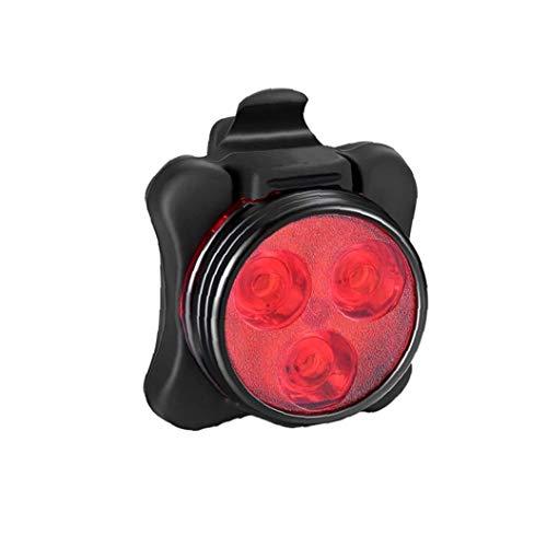 USB aufladbare Fahrrad Hell Wasserdicht Rücklicht Fahrrad hinten Zurück Sicherheits-Licht Mountainbike Universal-Fit mit Cliphalterung Strap Red 1PC
