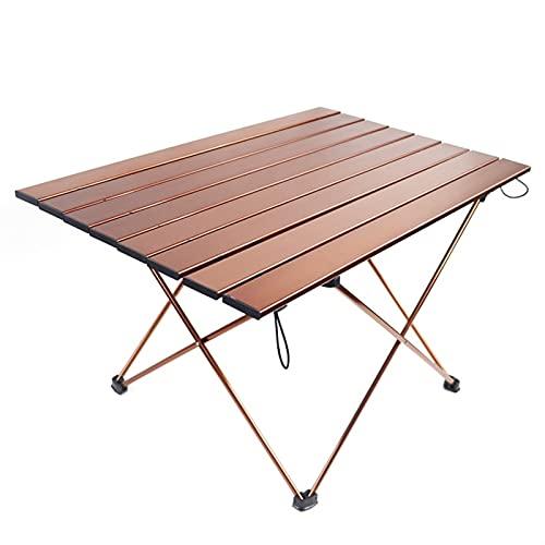 OPIBA Mesa de Picnic al Aire Libre-Muebles Plegable Barbacoa Aluminio-aleación marrón Dibujo Simple (Color : 01)
