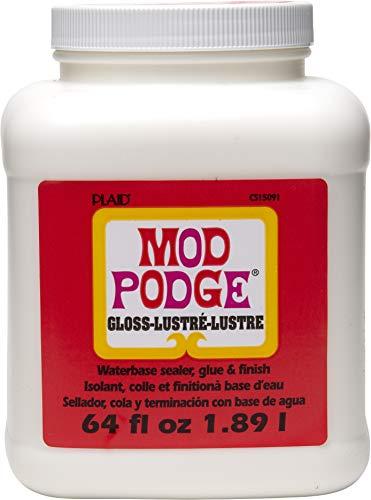 Mod Podge CS15091 Waterbase Sealer, Glue & Decoupage Finish, 64 oz, Gloss, 64 Fl Oz