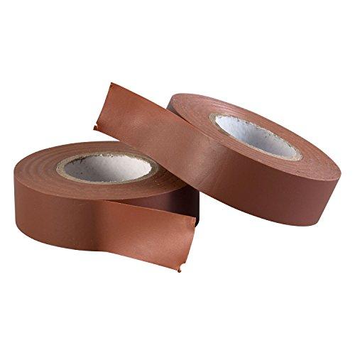 Gocableties Polyvinylchlorid-Elektro-Isolierband, 20 m x 19 mm, Premium-Doppelpack, 2 Rollen, Braun PVC-Klebeband