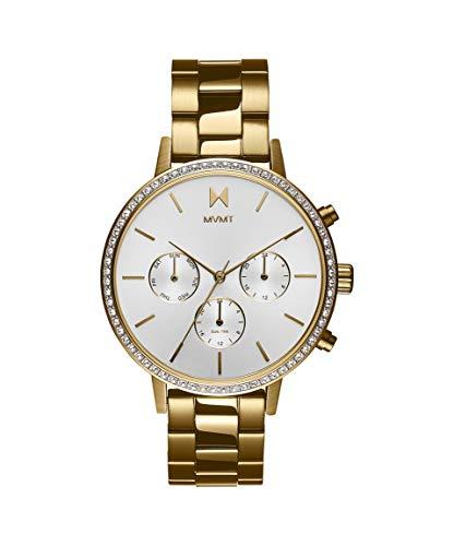 MVMT Damen Analog Quarz Uhr mit Edelstahl Armband 28000134-D