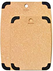 ✅ A CUT ABOVE -- This Epicurean Eco-Friendly Durable Nonslip Cutting Board is made in the USA and meticulously designed for everyday use while making meal prep a breeze. Natural paper composite board is reversible for two-sided cutting and fashioned ...