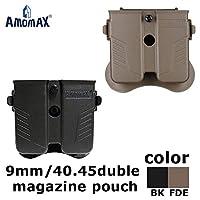 AMOMAX 9mm/.40/.45パドルダブルマガジンポーチ FDE