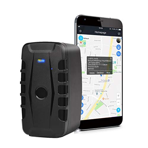 Localizador GPS para Coche, 20000mAh Rastreador GPS Impermeable Tiempo Real Antirrobo Fuerte imán GPS Tracker App Gratuita Seguimiento Vehículo