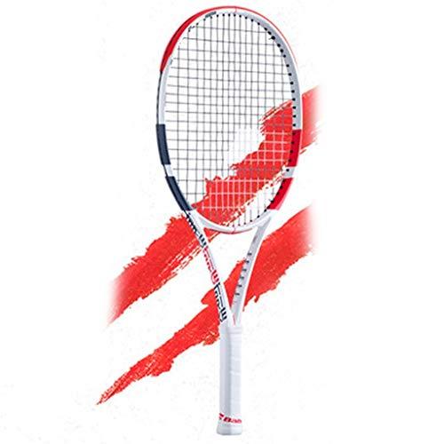 Raquetas Tenis De Carbono Completo Tenis Juvenil Tenis Individual Entrenamiento De Tenis Deportes Al Aire Libre (Color : Red, Size : 25in)