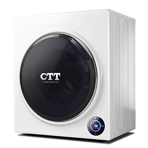 CTT 13 Lbs. Capacity/3.5 Cu.Ft. Intelligent Compact Portable Tumble Clothes Laundry Dryer, Intelligent Humidity Sensor - White