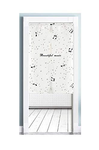 HJF gordijn van stof, woonkamer thuis, middelgroot, zonder boren (wit)
