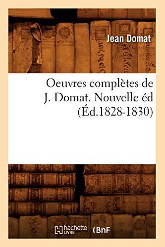 Oeuvres complètes de J. Domat. Nouvelle éd (Éd.1828-1830) PDF Books