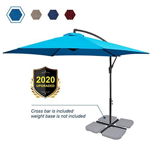 FRUITEAM 10-ft Offset Hanging Umbrellas, Garden...