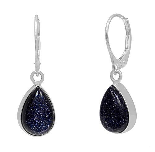ERCE Blaufluss Ohrringe Tropfen, 925 Silber
