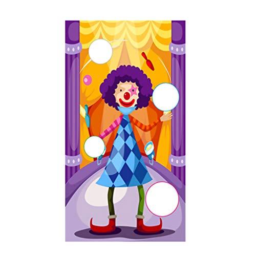 Kisangel 1 Juego de Banner de Juego de Lanzamiento de Animales Juego de Fiesta de Cumpleaños de Carnaval Divertido para Niños Adultos Jardín Al Aire Libre (Colorido)