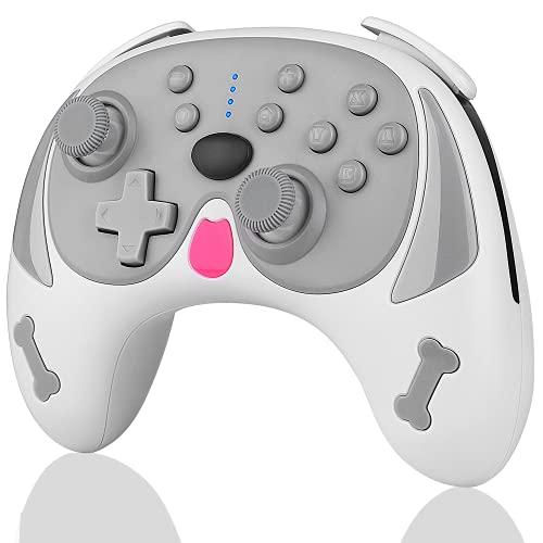 Controller per Switch, TUTUO Wireless Switch Pro Controller, Remoto Gamepad joystick con Wake-up Funzione/Giroscopio a 6 Assi/Turbo Regolabile/Doppia Vibrazione Motore