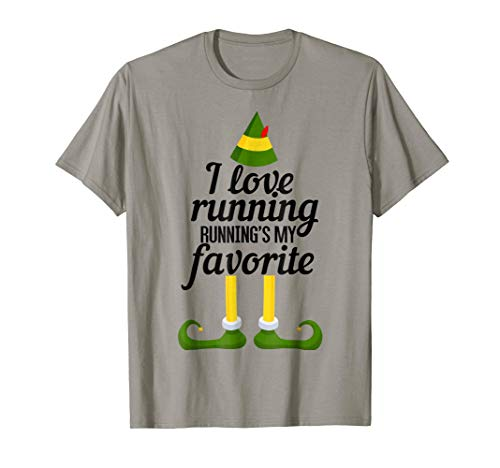 I Love Running, Running's My Favorite Funny Christmas TShirt