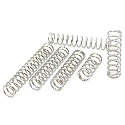 10 unids compresión de alambre de resorte diámetro 0,6 mm de diámetro exterior de 12 mm de acero inoxidable micro de acero inoxidable longitud de resorte de compresión 10mm-50mm ( tamaño : 12x25mm )