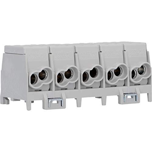 UNITEC Hauptleitungs Abzweigklemme 25 mm², 5-polig, fingersicher, 4 Klemmstellen je Pol, bis 400 V